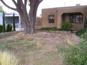 Before - SE Heights Landscape Design Project Albuquerque NM