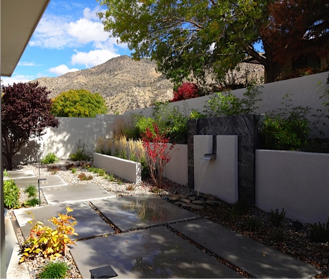 Heights Modern Residence Landscape Design and Installation - Before and After Photos Albuquerque NM