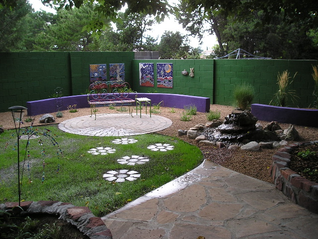Arroyo del Oso Residence Landscape Design and Installation - Before and After Photos Albuquerque NM