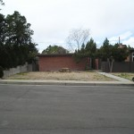 Mid-Century Modern Residence Landscape Design and Installation - Before and After Photos Albuquerque NM